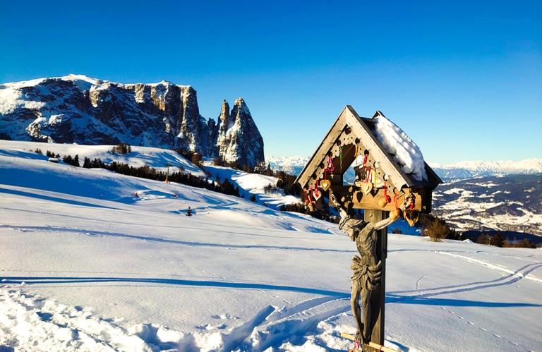 Seiseralm Südtirol - Blick auf den Schlern