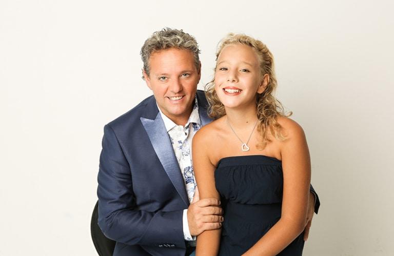 Graziano und seine Tochter Beatrice