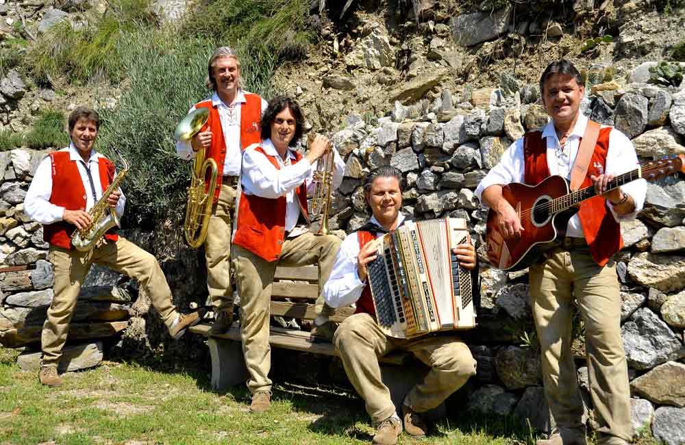 Südtioroler-Spitzbuam Südtirol Konzert Musikreise ;usikgruppen