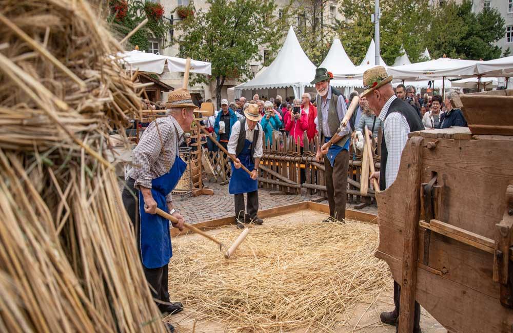 Brot und Strudemarkt Brixen Südtirol Meransen Konzerte